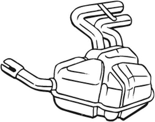 Endschalldämpfer BOSAL 247-041