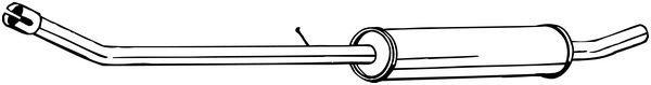 Mittelschalldämpfer BOSAL 284-637