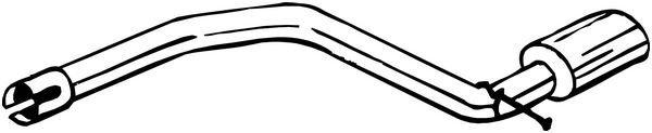 Abgasrohr BOSAL 750-433