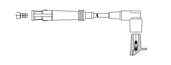 Zündleitung BREMI 126/45