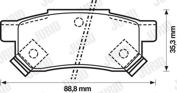 Bremsbelagsatz, Scheibenbremse JURID 571977J