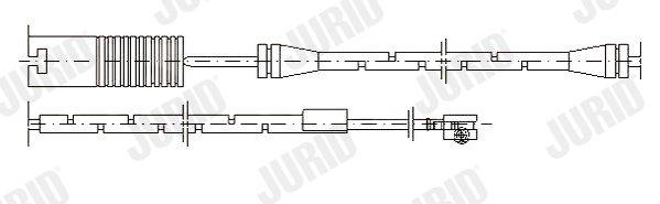 Warnkontakt, Bremsbelagverschleiß JURID 581365