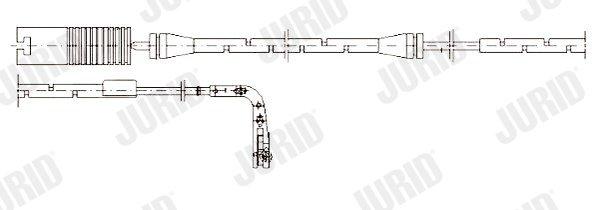 Warnkontakt, Bremsbelagverschleiß JURID 581380