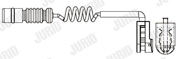 Warnkontakt, Bremsbelagverschleiß Hinterachse Vorderachse JURID 581384