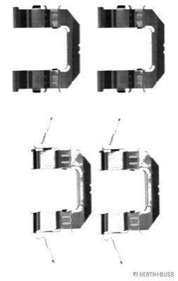 Zubehörsatz, Scheibenbremsbelag HERTH+BUSS JAKOPARTS J3661028