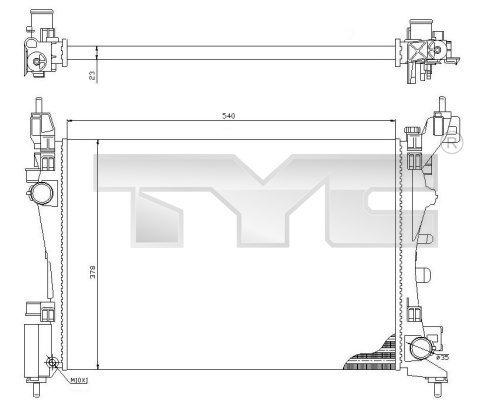 Kühler, Motorkühlung TYC 709-0018