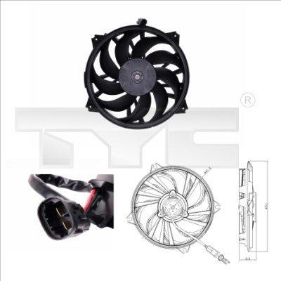 Lüfter, Motorkühlung TYC 805-0006