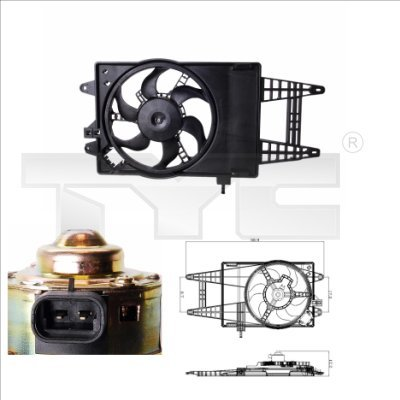 Lüfter, Motorkühlung TYC 809-0004
