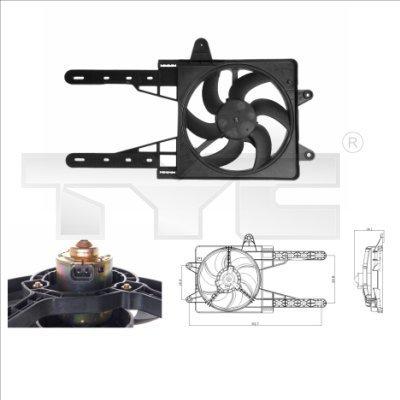 Lüfter, Motorkühlung TYC 809-0007