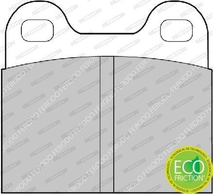 Bremsbelagsatz, Scheibenbremse FERODO FDB3M Bild 3