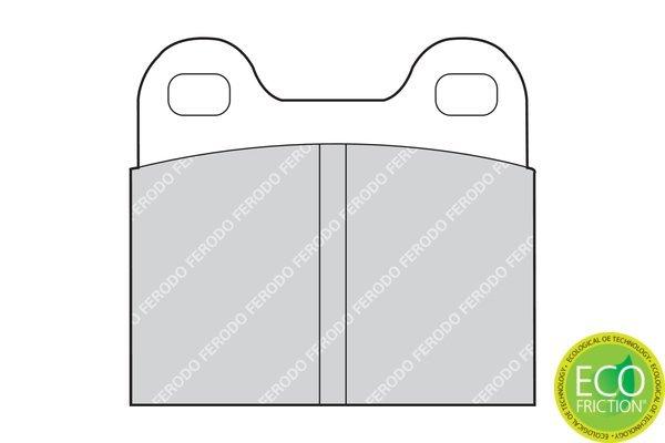 Bremsbelagsatz, Scheibenbremse FERODO FDB3M Bild 2