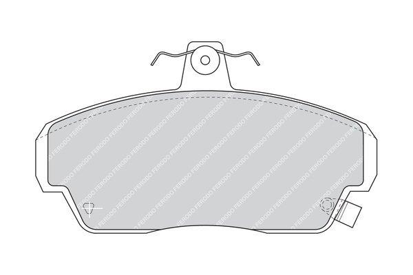 Bremsbelagsatz, Scheibenbremse FERODO FDB771