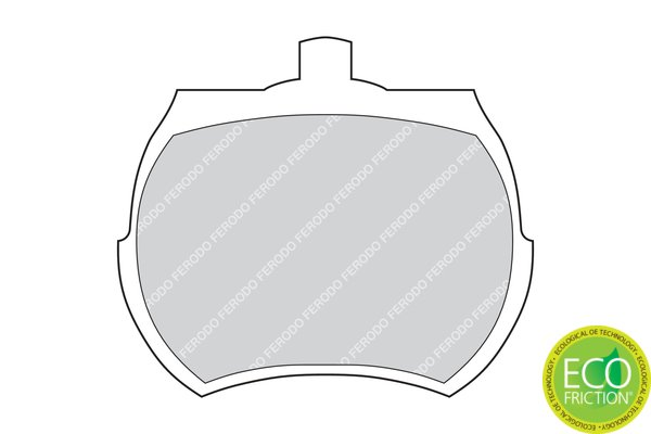 Bremsbelagsatz, Scheibenbremse FERODO FDB824 Bild 2