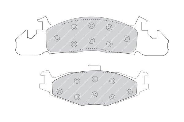 Bremsbelagsatz, Scheibenbremse FERODO FDB926