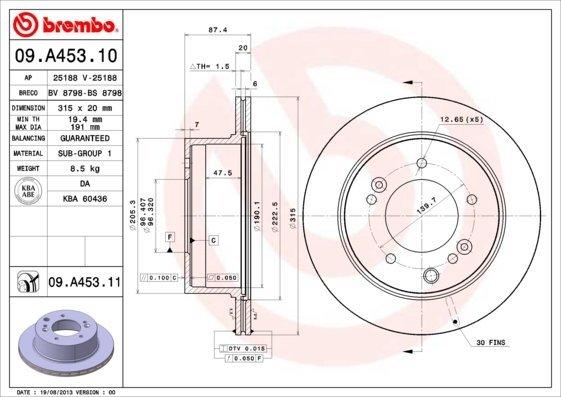 Bremsscheibe BREMBO 09.A453.11
