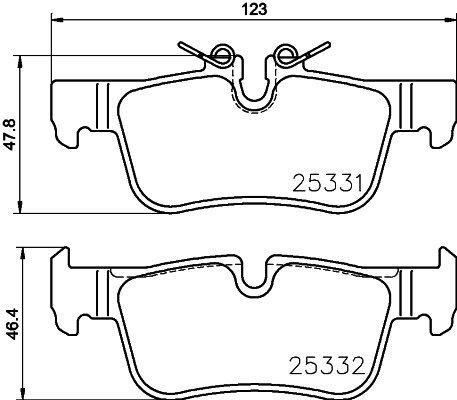 Bremsbelagsatz, Scheibenbremse BREMBO P 06 094