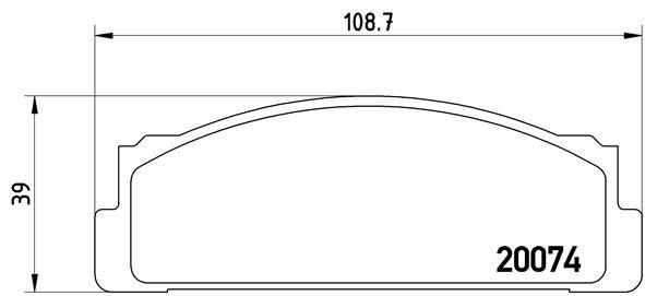 Bremsbelagsatz, Scheibenbremse BREMBO P 23 002 Bild 1