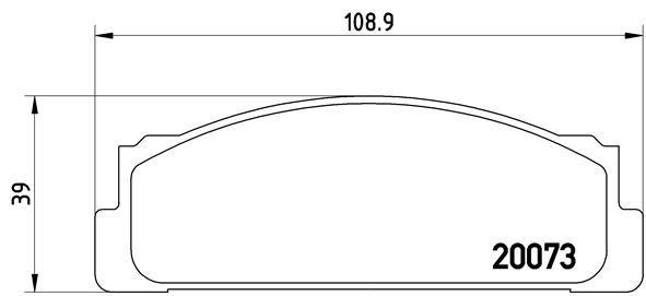 Bremsbelagsatz, Scheibenbremse BREMBO P 23 003 Bild 1