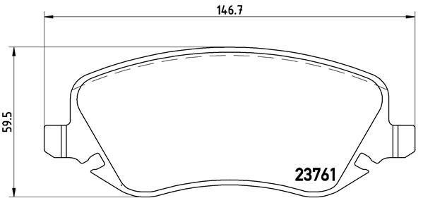 Bremsbelagsatz, Scheibenbremse BREMBO P 23 088