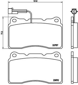 Bremsbelagsatz, Scheibenbremse BREMBO P 23 115