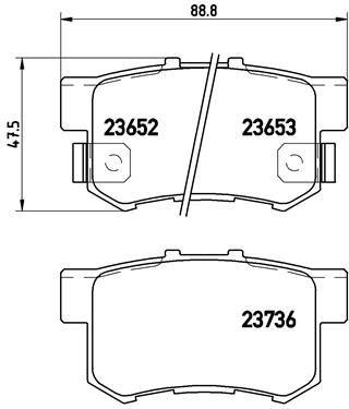 Bremsbelagsatz, Scheibenbremse BREMBO P 28 039