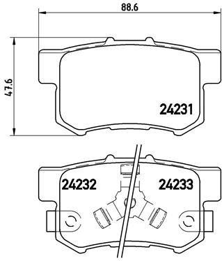 Bremsbelagsatz, Scheibenbremse BREMBO P 28 051