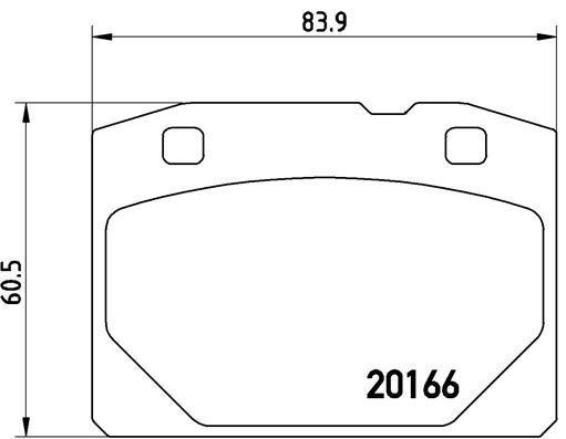 Bremsbelagsatz, Scheibenbremse BREMBO P 41 001