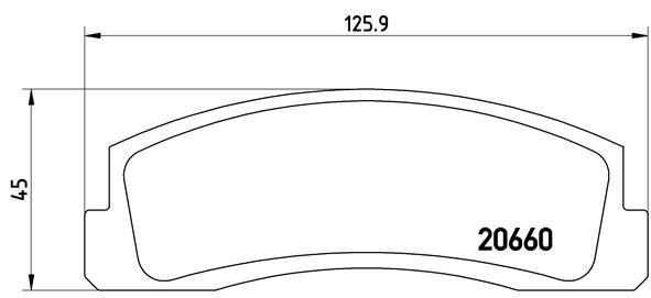 Bremsbelagsatz, Scheibenbremse BREMBO P 41 002