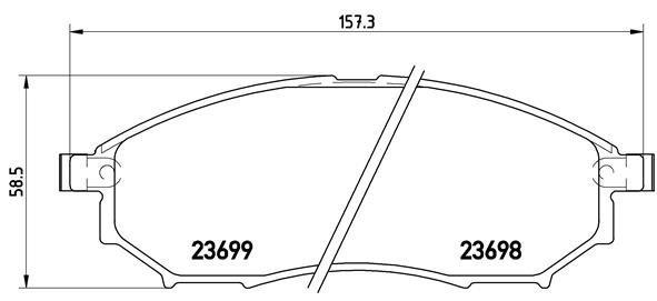 Bremsbelagsatz, Scheibenbremse BREMBO P 56 058