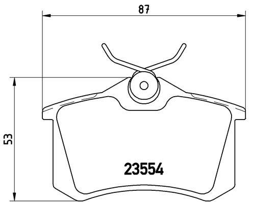 Bremsbelagsatz, Scheibenbremse BREMBO P 68 024