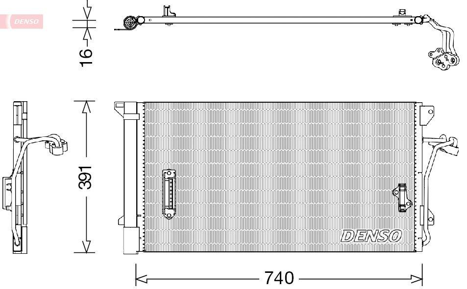 Kondensator, Klimaanlage DENSO DCN02027