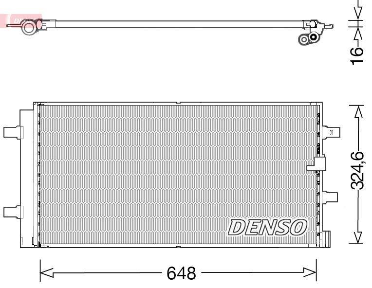 Kondensator, Klimaanlage DENSO DCN02044 Bild 1