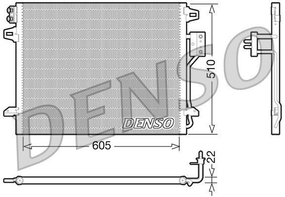 Kondensator, Klimaanlage DENSO DCN06006