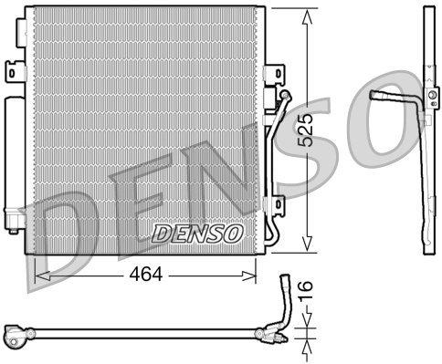 Kondensator, Klimaanlage DENSO DCN06011