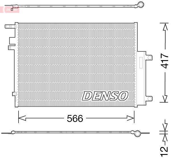 Kondensator, Klimaanlage DENSO DCN06017