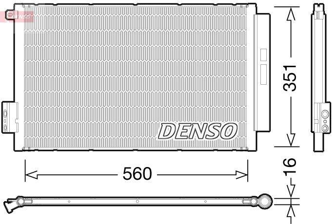 Kondensator, Klimaanlage DENSO DCN09043