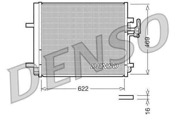 Kondensator, Klimaanlage DENSO DCN10016