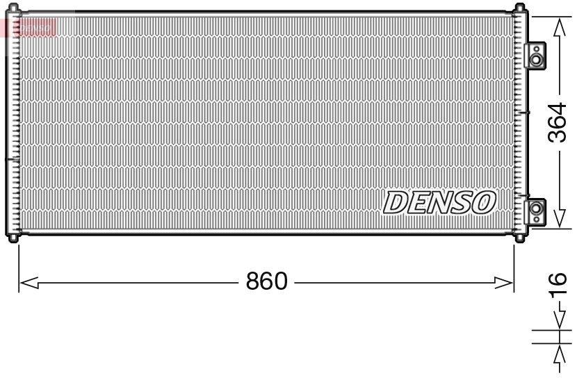 Kondensator, Klimaanlage DENSO DCN10032