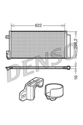 Kondensator, Klimaanlage DENSO DCN13110