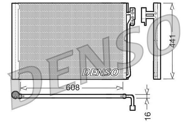 Kondensator, Klimaanlage DENSO DCN14001 Bild 1
