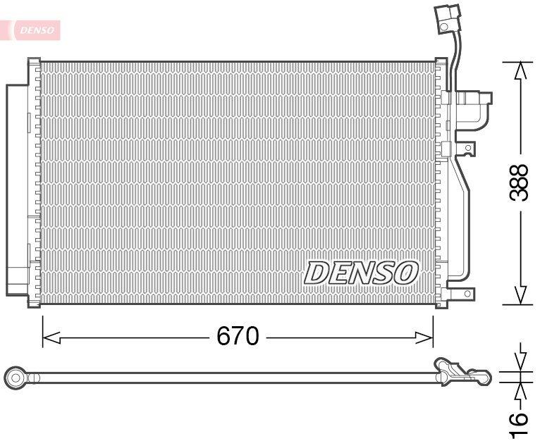 Kondensator, Klimaanlage DENSO DCN15002