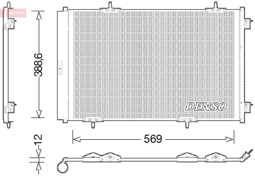 Kondensator, Klimaanlage DENSO DCN21030