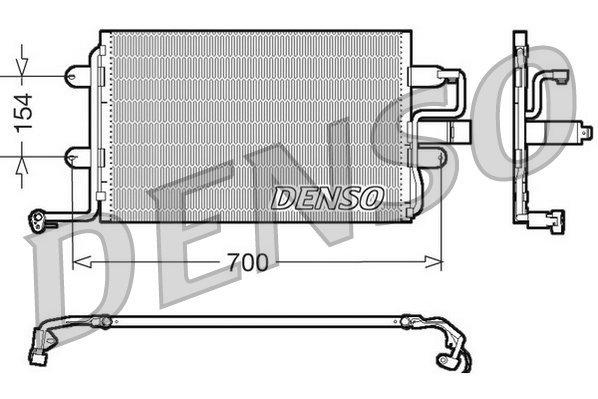 Kondensator, Klimaanlage DENSO DCN32017