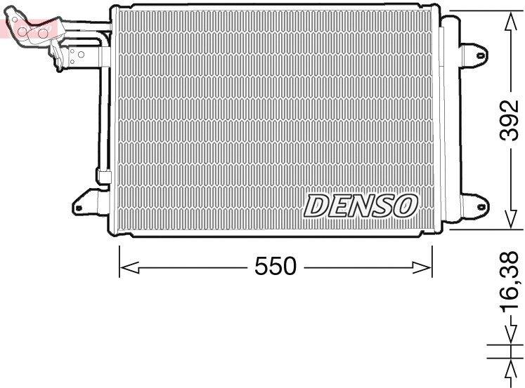Kondensator, Klimaanlage DENSO DCN32032