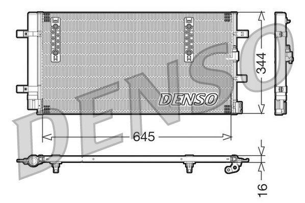 Kondensator, Klimaanlage DENSO DCN32060 Bild 1