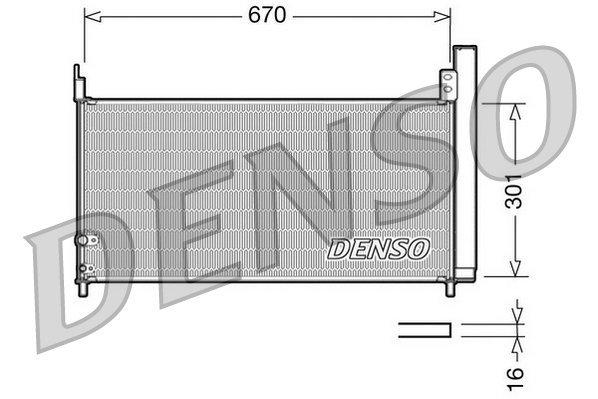 Kondensator, Klimaanlage DENSO DCN50037
