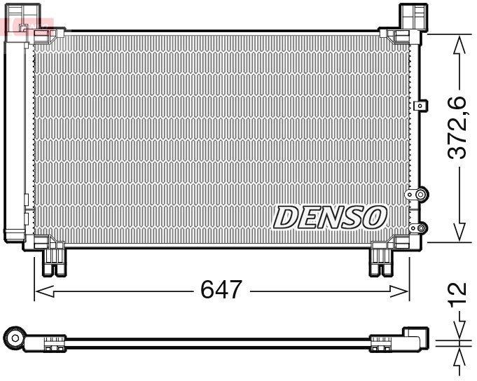 Kondensator, Klimaanlage DENSO DCN50053