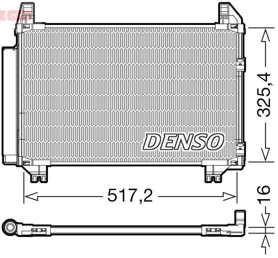 Kondensator, Klimaanlage DENSO DCN50101