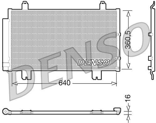 Kondensator, Klimaanlage DENSO DCN51005