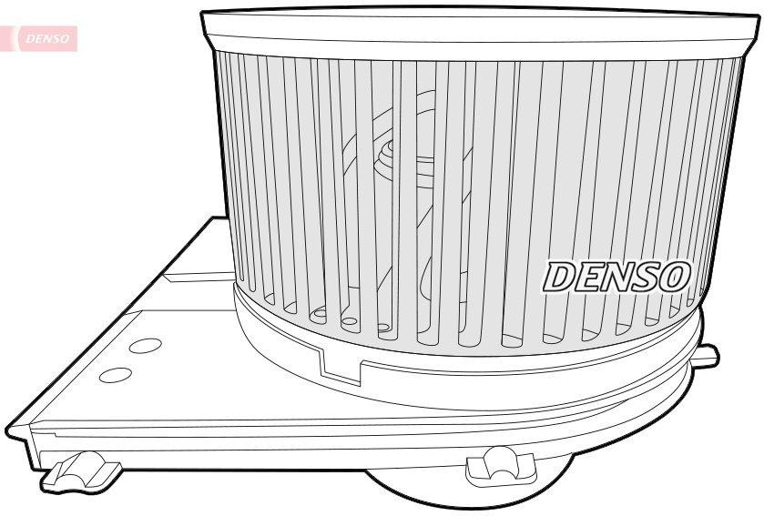 Innenraumgebläse 12 V DENSO DEA02004